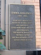 Emma Goldman lived at this apartment on E. 13th St. for a decade, raising hell, running a influential magazine, and even operating a beauty parlor.