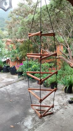 Wiwiurka Wooden Climber / Monkey bars kit assembled by