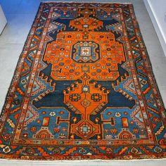 Maison d'enchères en ligne Catawiki: Magnifique tapis kurde semi-ancien, 205 × 130 cm, avec certificat.