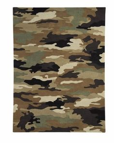 Camo Rug for a boy's room. Great for an older boy too. Great color palette for a sophisticated room.