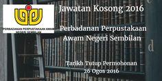 Jawatan Kosong Perbadanan Perpustakaan Awam Negeri Sembilan 26 Ogos 2016  Perbadanan Perpustakaan Awam Negeri Sembilan mencari calon-calon yang sesuai untuk mengisi kekosongan jawatan Perbadanan Perpustakaan Awam Negeri Sembilan terkini 2016.  Jawatan Kosong Perbadanan Perpustakaan Awam Negeri Sembilan 26 Ogos 2016  Warganegara Malaysia yang berminat bekerja di Perbadanan Perpustakaan Awam Negeri Sembilan dan berkelayakan dipelawa untuk memohon sekarang juga. Jawatan Kosong Perbadanan…