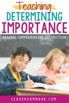 Check out this blog post all about how to teach determining importance while reading in the upper elementary classroom. Read about how to explicitly teach students to determine importance while reading in 3rd, 4th, and 5th grade. Learn about modeling the reading comprehension strategy, practicing with fiction and nonfiction texts and MORE! Then download a FREE determining importance bookmark and get access to a Google Classroom compatible LINKtivity digital learning guide to get started… 4th Grade Classroom, Classroom Posters, Google Classroom, Reading Activities, Teaching Reading, Reading Resources, Elementary Education, Upper Elementary, Student Bookmarks