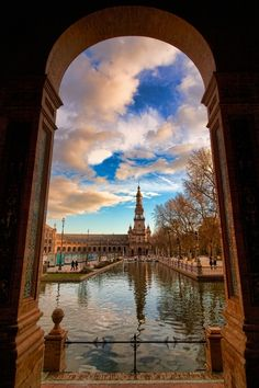 Sevilla, Spain hard to believe but looks prettier in real life! my favorite city in spain Places Around The World, Oh The Places You'll Go, Places To Travel, Places To Visit, Travel Local, Dream Vacations, Vacation Spots, Beautiful World, Beautiful Places