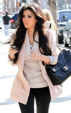 London look - jacket & top Look Kim Kardashian, Kardashian Beauty, Kardashian Jenner, Look Fashion, Winter Fashion, Fashion Outfits, Womens Fashion, Kim K Style, My Style