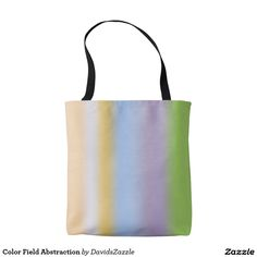 Color Field Abstraction Tote Bag Check out my other boards to find this design on other products!  #tote #fashion #style #lifestyle #accessory #accessories #gear #zazzle #shopping #window #grocery #bag #buy #color #red #yellow #blue #sale #stripes #line #cool #hip #chic #modern #contemporary #men #women #art #abstract #abstraction