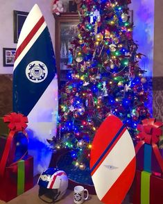 Instagram post by Coast Guard • Dec 22, 2018 at 8:00am UTC Coast Guard Auxiliary, Christmas Tree, Holiday Decor, Instagram Posts, Teal Christmas Tree, Xmas Trees, Christmas Trees, Xmas Tree