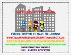 Classroom Freebies Too: Superhero CAFE Headers