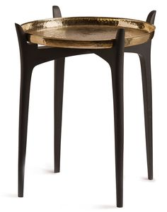Thaali Table - Shop from a curated side table collection at Artisera New Furniture, Luxury Furniture, Interior Concept, Interior Design, Big Tray, Vanity Desk, Black Stains, Luxury Living, End Tables