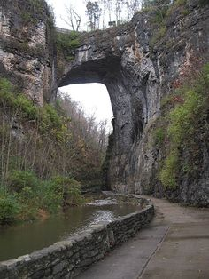 A natural bridge in Virginia