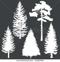 tree silhouettes clip art decoration ideas pinte