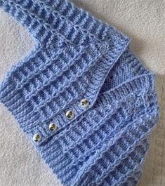 Daisy's Summer Baby Cardigan | Bluprint Baby Cardigan Knitting Pattern Free, Crochet Baby Sweaters, Baby Boy Knitting Patterns, Baby Sweater Patterns, Knitted Baby Cardigan, Crochet Baby Clothes, Knitting For Kids, Baby Patterns, Cardigan Bebe