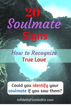 Do you know which soulmate signs to look for so you can identify your ideal partner? Would you recognize true love if you found it? [Take Poll] Which soulmate characteristics matter most at https://www.infidelityfirstaidkit.com/20-soulmate-signs-recognize-true-love/