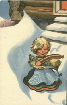 Vintage Postcards, Norway, Scandinavian, Christmas Postcards, History, Painting, Artists, Vintage Travel Postcards, Historia