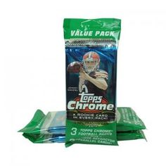 2014 Topps Chrome Football Value Pack 3 Pack Lot | Steel City Collectibles