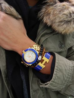 Cobalt And Gold Watch Picture & Image | tumblr