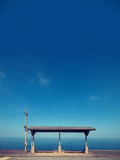 下灘駅 Shimonada Station   by かがみ~
