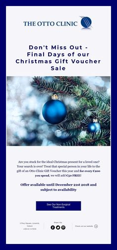 Don't Miss Out - Final Days of our Christmas Gift Voucher Sale Christmas Gift Vouchers, Final Days, Special Person, Facials, Christmas Presents, Free, Xmas Gifts, Special People, Facial