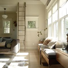 Farrow and Ball paint - wall: Shaded White, trim: Slipper Satin