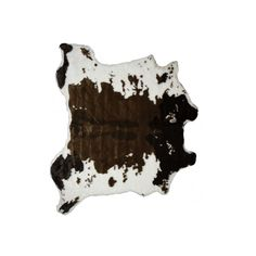 Luxe Brown & White Faux Cowhide Rug/Throw