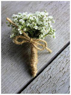 Corsage gipskruid   Via Flora   Pinterest
