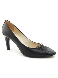 Chanel Leather Couture Black Pumps