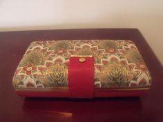 Beautiful USA-MELE Fashion Jewelry Travel Case Burgundy & Floral  #Mele