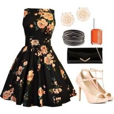 20 Floral Outfit Comboinations for Spring/ Summer - Outfit Ideas for 2017 - Pretty Designs Fashion Mode, Look Fashion, Womens Fashion, Classy Teen Fashion, Floral Fashion, Spring Summer Fashion, Spring Outfits, Outfit Summer, Summer Dresses