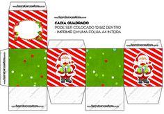 Caixa Bis Natal Vermelho e Verde