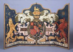 Elizabethan royal arms (with fanciful additions!)