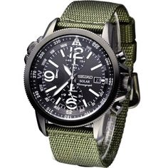GENUINE SEIKO Watch SOLAR PILOT Male - SSC137P1 Seiko http://smile.amazon.com/dp/B00BTAU6W2/ref=cm_sw_r_pi_dp_2el9tb1X1Z6SP