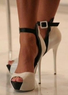 Black and white shoes - I like these, the heel would be a little lower for my wife,but looks nice.