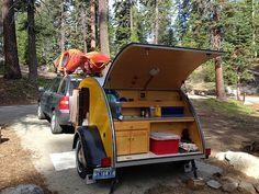 Tiny Yellow Teardrop: Teardrop Camping: Plan It or Wing It?