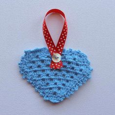 Hartjie versiersel - blou Heart Decorations, Crochet Earrings, Blue, Jewelry, Products, Jewellery Making, Jewels, Jewlery, Jewerly