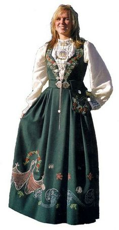 Ethnic Fashion, Boho Fashion, Folk Costume, Costumes, Norwegian Clothing, Norwegian Style, Dirndl Dress, Female Portrait, Woman Portrait