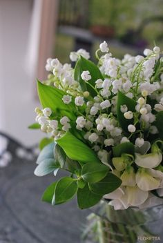 2 favs - lily of the valley and sweet peas!