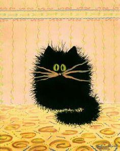 ♥CAT♥ 123 CRANKY CAT (ART BY CYNTHIA S)