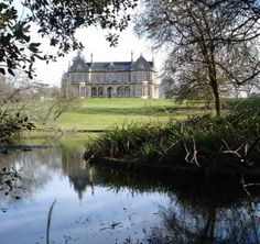 Clevedon Hall from across the estate's lake - Clevedon Hall wedding venue in Clevedon, Bristol, Somerset