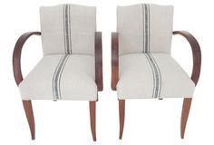 Bridge Chairs, Pair