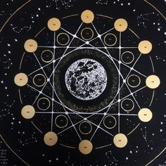 ////// 2018 Lunar Calendar ////// Use this screenprinted gem to follow the cycles of the moon and the movements of celestial bodies throughout 2018.  This lunar calendar showcases the full moons and new moons for each month and the astrological sign of each lunar phase. This year for the first time, the calendar charts major astronomical events such as significant meteor showers, lunar eclipses, and solstices. Inspired by alchemical drawings, vintage star charts, and magical...