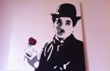 Another great 2-color Chaplin Stencil. Love the shadows.