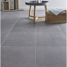 carrelage_sol_gris_effet_beton_madison_l_45_x_l_45_cm Basement Stairs, Kitchen Tiles, Home Remodeling, Tile Floor, Sweet Home, Indoor, House Design, Flooring, Rustic