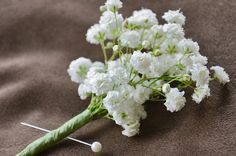 Man's Baby's Breath Boutonniere