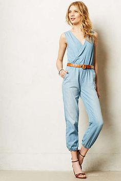 WANT! Anthropologie - Mother Denim Jumpsuit $275 #motherdenim #madeintheusa