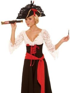 New Sexy Pirate Wench Lady Corsair Halloween Costume S | eBay