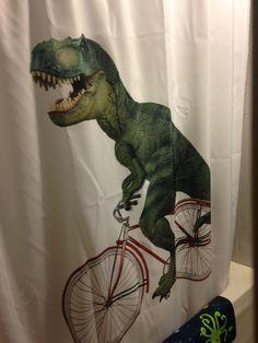 Dinosaur shower curtain