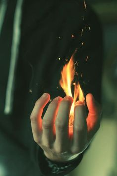 the fire in his hand ✋