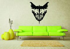 Giant Batman & Joker Ink Blot Comic Vinyl Wall Art by HallofHeroes
