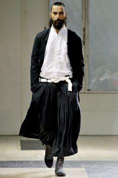 the Rasputin look... 26-10-11 yohji yamamoto s/s12