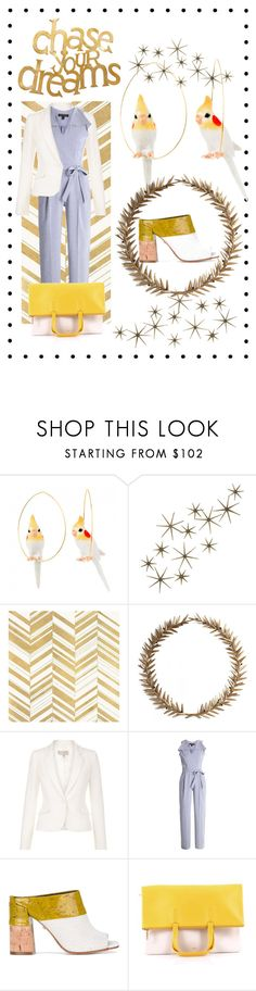 """""""Cockatoo dreams"""" by dudettelucy ❤ liked on Polyvore featuring Nach Bijoux, Global Views, Home Decorators Collection, Bliss Studio, Banana Republic, Dorothee Schumacher, CÉLINE and PBteen"""
