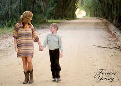 Mother son photo shoot in South Georgia